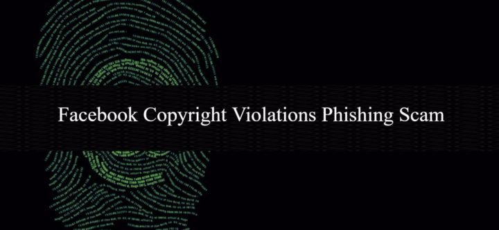 Facebook Copyright Violations Phishing Scam