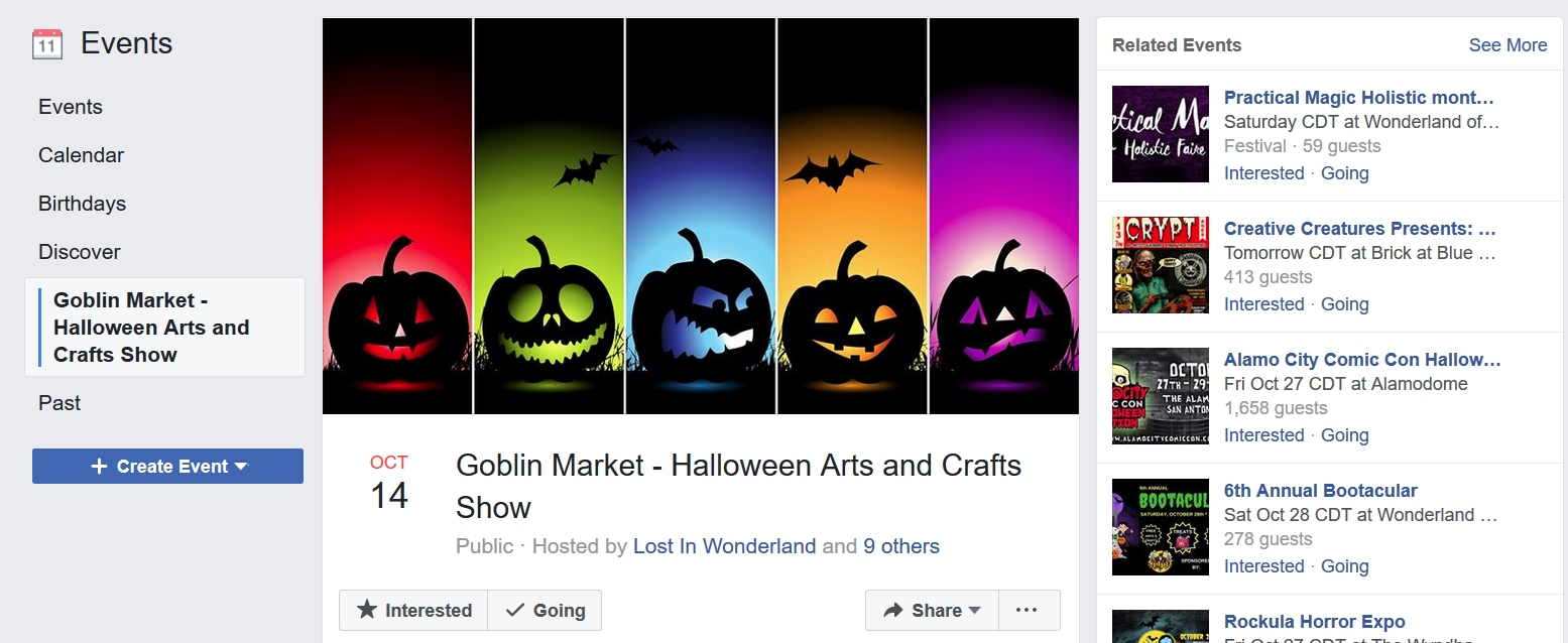 Facebook local events