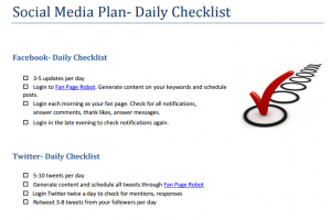 Social Media Plan Template for Small Business