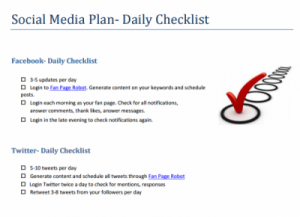 Social Media Plan Template Facebook and Twitter