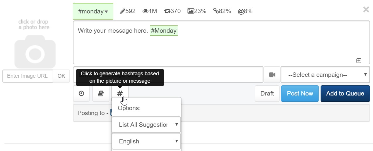 auto hashtag suggestions