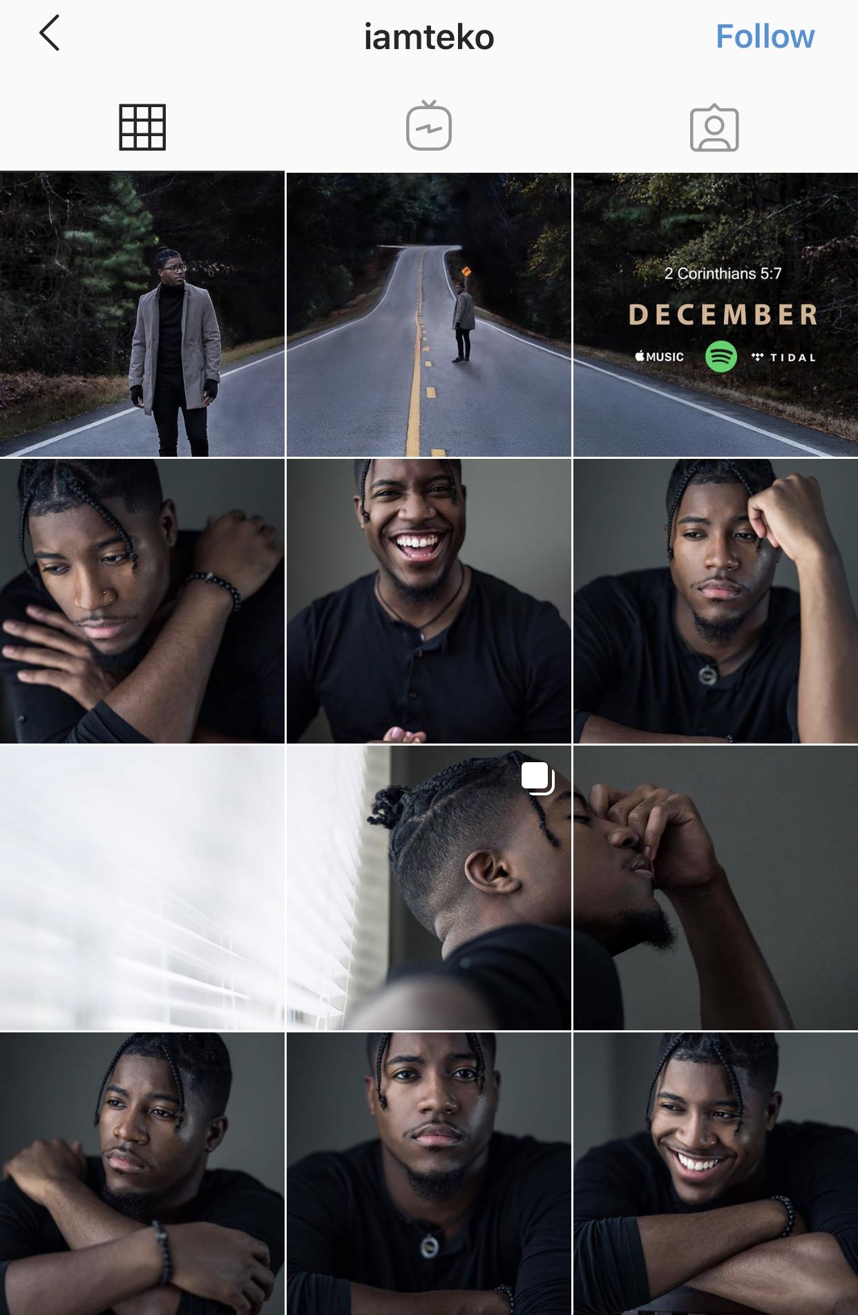 design Instagram look