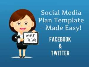 Social Media Plan Template Facebook And Twitter - Facebook media plan template