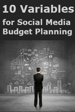 10 variables for the social media marketing budget