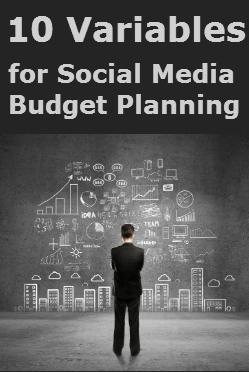 10 variables for the social media marketing budget
