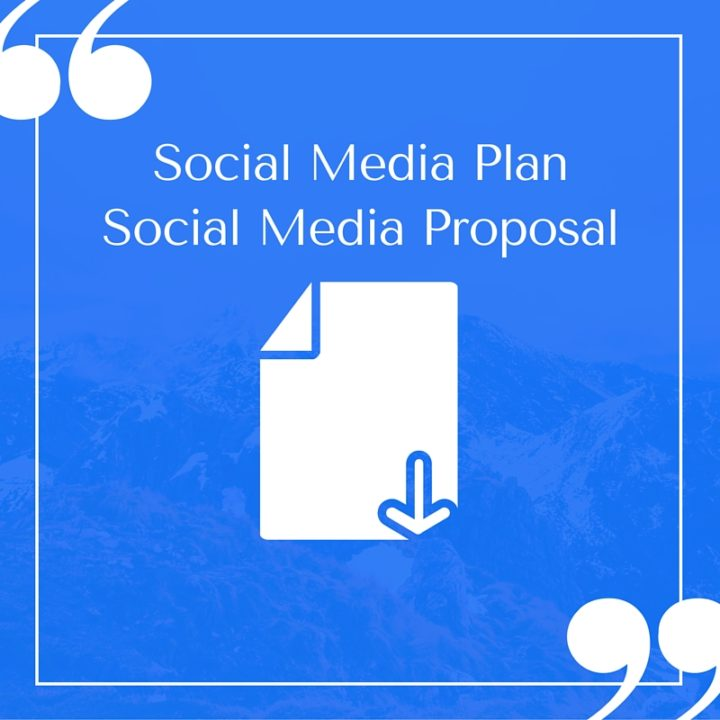 Social Media Plan Proposal Template  Marketing Proposal Template Free